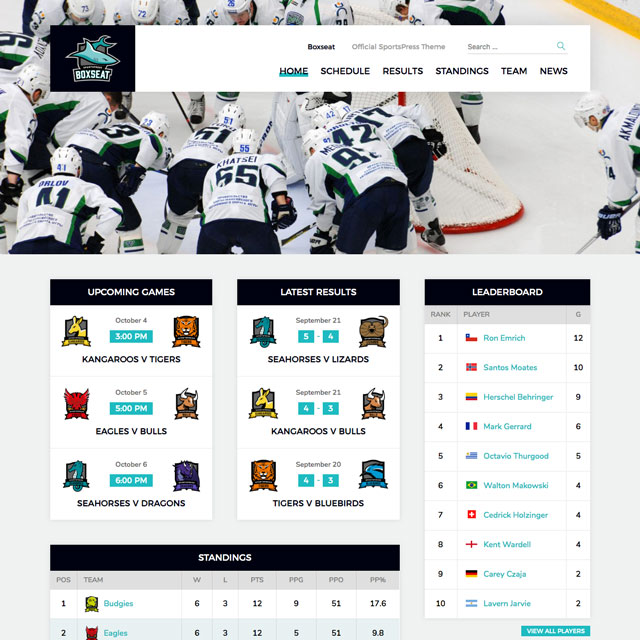 ThemeBoy - WordPress Themes & Plugins for Sports Clubs