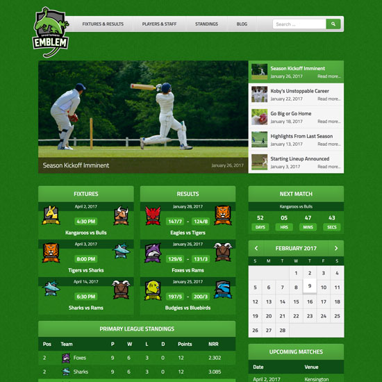 Themeboy Wordpress Themes Plugins For Sports Clubs