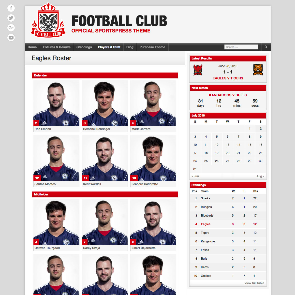 Football Club team profile