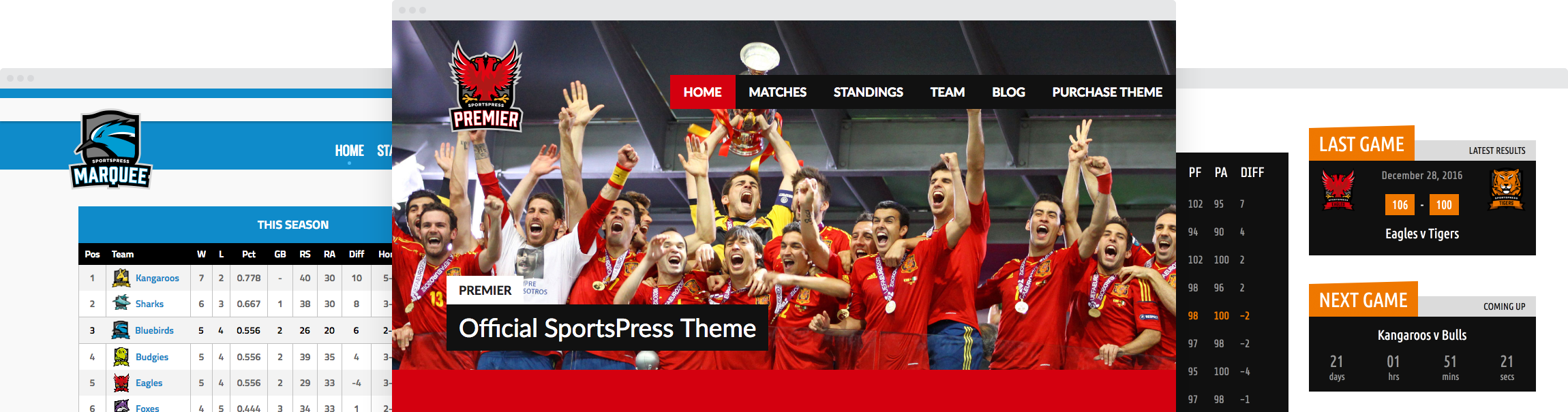 Premium SportsPress Themes by ThemeBoy
