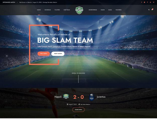Big Slam SportsPress Theme