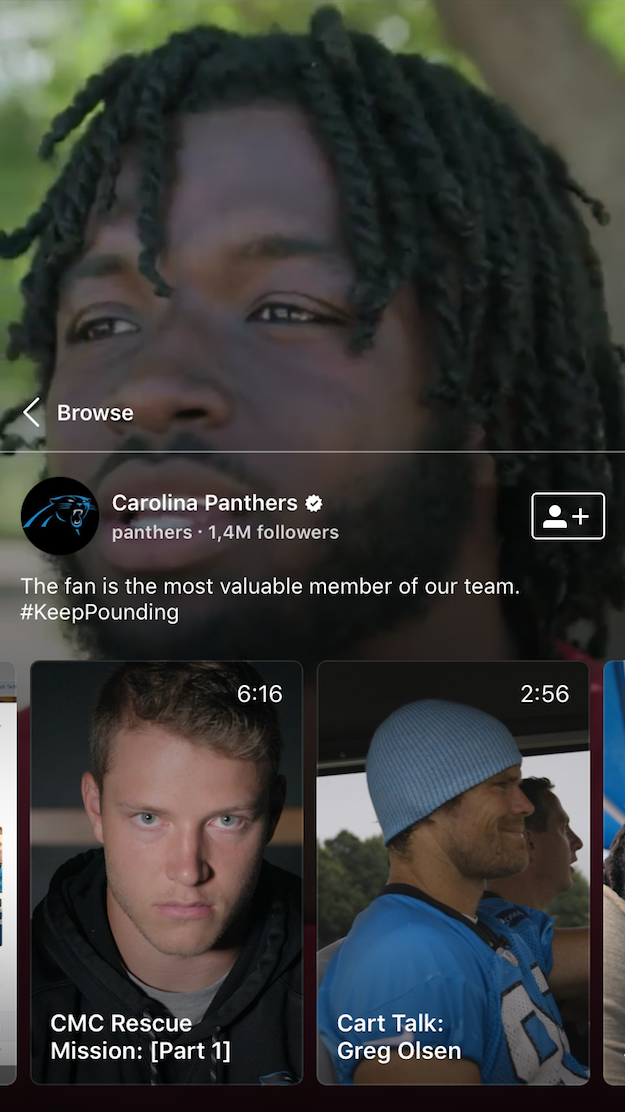 Carolina Panthers IGTV