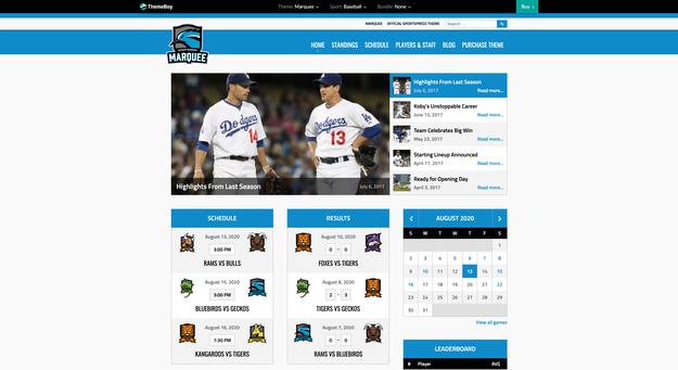 Marquee SportsPress Theme