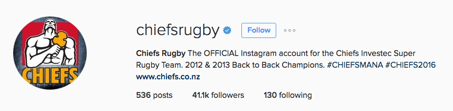 chiefsrugby instagram account2