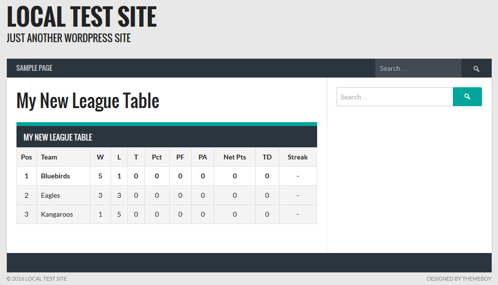 How to Create League Tables and Team Profiles in WordPress