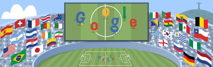 sports marketing examples Google doodle world cup 2014